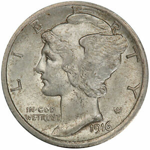 Click now to see the BUY IT NOW Price! 1916 D 10C MERCURY DIME PCGS AU58 CAC