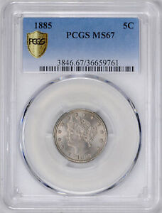 Click now to see the BUY IT NOW Price! 1885 LIBERTY 5C PCGS MS 67
