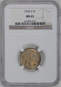Click now to see the BUY IT NOW Price! 1920 S BUFFALO 5C NGC MS 65
