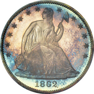 Click now to see the BUY IT NOW Price! 1862 50C LIBERTY SEATED HALF DOLLAR PCGS PR65  CAC