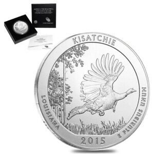 2015 P 5 OZ SILVER AMERICA THE BEAUTIFUL ATB LOUISIANA KISATCHIE NATIONAL FOREST