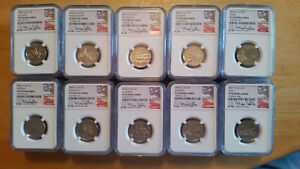 Click now to see the BUY IT NOW Price! 1999 2008 MIKE CASTLE SIGNED NGC PF70 ULTRA CAMEO 1 OF A KIND SET STATEHOOD 25C