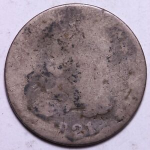 1821 CAPPED BUST DIME      K10KF