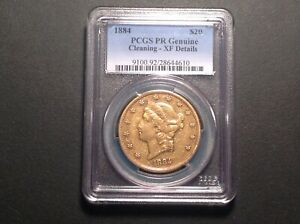 Click now to see the BUY IT NOW Price! 1884 $20 PCGS PROOF  XF DETAILS   GOLD LIBERTY DOUBLE EAGLE . ST $20 .