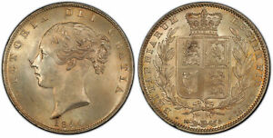 Click now to see the BUY IT NOW Price! GR BRITAIN VICTORIA  1844 AR HALFCROWN. PCGS MS64 S 3888; ESC 2720.