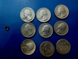 USA COIN LOT OF QUARTER 9 PCS  1965  1995  T1831