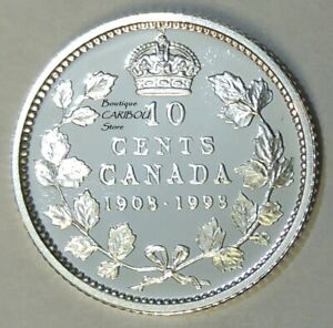 1998 CANADA SILVER PROOF ''MIRROR FINISH'' 10 CENTS