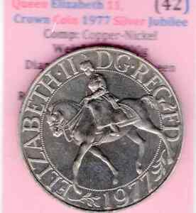 1977 CROWN COIN TO COMMEMORATE THE QUEENS SILVER JUBILEE CROWN COIN   ITEM:  42