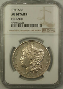 Click now to see the BUY IT NOW Price! 1893 S MORGAN SILVER DOLLAR $1 NGC AU DETAILS CLEANED  KEY DATE