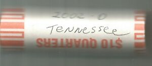 2002 D TENNESSEE STATE ORGINAL BANK WRAPPED QUARTER ROLL   UNCIRCULATED