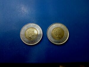 CANADA COIN LOT OF 2 DOLLAR 1996 1999 T1417