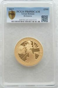 Click now to see the BUY IT NOW Price! 2017 GREAT BRITAIN BRITANNIA 500 POUND GOLD PROOF 5OZ COIN PCGS PR69 DCAM