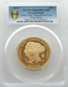 Click now to see the BUY IT NOW Price! 2019 WILLIAM WYON QUEEN VICTORIA 10 TEN POUND GOLD PROOF 5OZ COIN PCGS PR69 FS