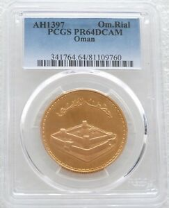 Click now to see the BUY IT NOW Price! 1976 OMAN MUSCAT FORT BURAIMI 1 ONE OMANI RIAL GOLD PROOF COIN PCGS PR64 DCAM