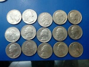 USA COIN LOT OF QUARTER  15 PCS  1966   2011T1882