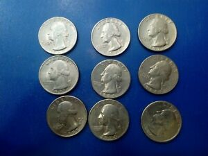 USA COIN LOT OF QUARTER DOLLAR 9PCS  T1262