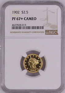 Click now to see the BUY IT NOW Price! 1902 LIBERTY HEAD $2.5 NGC PR 67  CAM