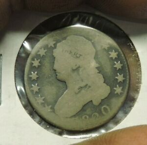 1820 CAPPED BUST QUARTER GOOD EARLY DATE  VDB