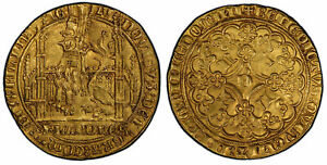 Click now to see the BUY IT NOW Price! BELGIUM FLANDERS BRUGES LOUIS II DE MALE  1346 84  AV LION D'OR PCGS MS62 FR 157