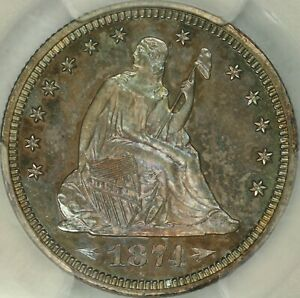Click now to see the BUY IT NOW Price! 1874 ARROWS PROOF SEATED QUARTER PCGS PR66