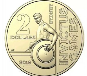 2018 INVICTUS GAMES $2 UNCIRCULATED COIN FROM RAM BAG FREE AU POST