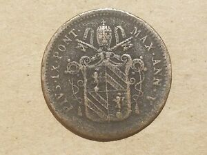 Click now to see the BUY IT NOW Price! 1850 R PAPAL STATES VATICAN CITY 1/2 BAIOCCO COIN ITALIAN ITALY POPE PIUS IX
