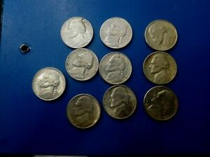 USA COIN LOT OF 5 CENTS 10 PCS  T1743