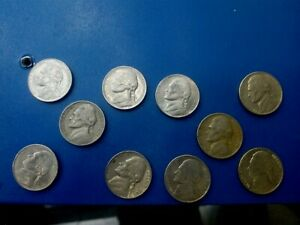 USA COIN LOT OF 5 CENTS 10 PCS  T1741