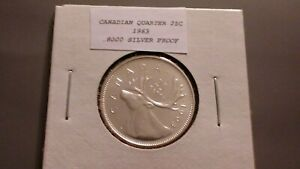 1963 25C SILVER PROOF CANADIAN QUARTER