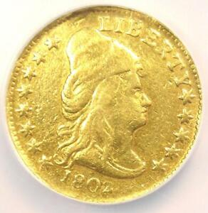 1802/1 CAPPED BUST GOLD QUARTER EAGLE $2.50 COIN   NGC VF DETAILS    DATE