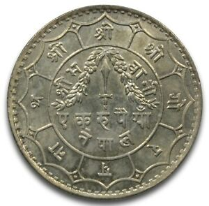 Click now to see the BUY IT NOW Price! 1932  VS1989  NEPAL SILVER RUPEE TRIBHUVANA BIR BIKRAM KM723