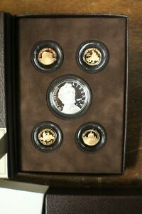 2009 U S MINT $1 LINCOLN COIN & CHRONICLES SILVER PROOF SET OF 5 IN BOX LOT 3