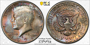 Click now to see the BUY IT NOW Price! 1979 D PCGS MS63 JFK KENNEDY CLAD HALF DOLLAR .50 CENTS COLOR TONED 1322