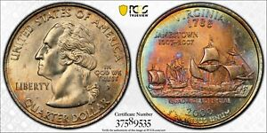 Click now to see the BUY IT NOW Price! 2000 P STATE QUARTER VIRGINIA PCGS MS65 TONED BU MS COLOR RAINBOW  DR