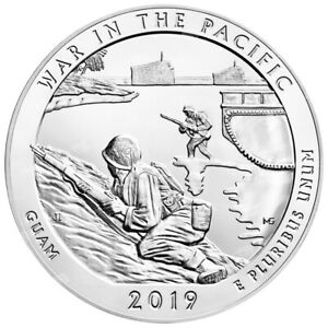 5 OZ 2019 AMERICA THE BEAUTIFUL | WAR IN THE PACIFIC   GUAM SILVER COIN