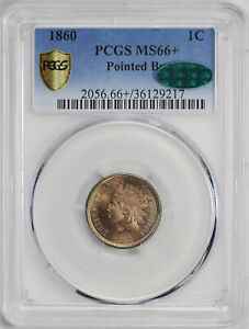 Click now to see the BUY IT NOW Price! 1860 INDIAN COP NIC 1C PCGS MS 66