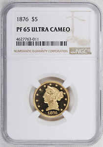 Click now to see the BUY IT NOW Price! 1876 LIBERTY $5 NGC PR 65 DCAM
