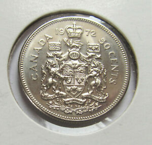 1972 CANADA NICKEL HALF DOLLAR   50 CENT COIN    COMBINED SHIPPING SEE LISTING