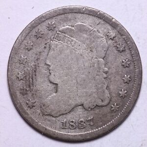 1837 CAPPED BUST HALF DIME     K10SCP