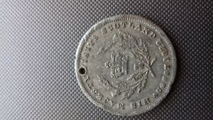 1822 KING GEORGE IV MEDALLION ON HIS VISIT TO SCOTLAND.
