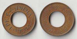1944 INDIA 1 PICE COIN