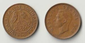 1952 SOUTH AFRICA FARTHING COIN