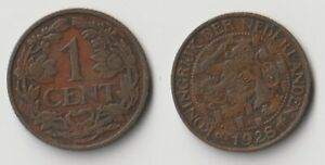1928 NETHERLANDS 1 CENT COIN