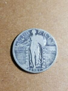 1927 25C STANDING LIBERTY SILVER QUARTER AS PICTURED