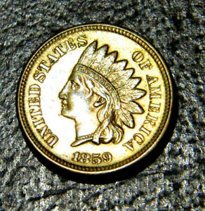 1859 INDIAN HEAD CENT. BLAZING SMOOTH LUSTROUS RED GEM BU/MS    INCREDIBLE COIN