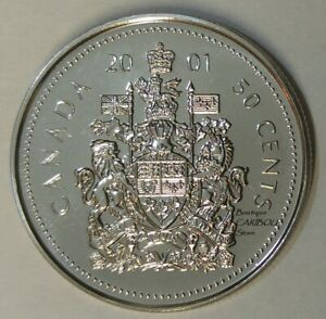 2001 CANADA PROOF LIKE 50 CENTS