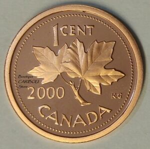 2000 CANADA PROOF 1 CENT