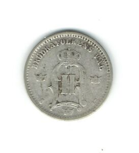SWEDEN 1876 ST MINT KM738 SILVER TWENY FIVE ORE FACE VALUE COIN
