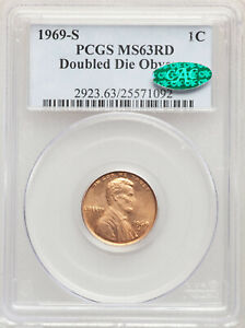 Click now to see the BUY IT NOW Price! 1969 S 1C DOUBLED DIE OBVERSE SAN FRANCISCO LINCOLN CENT PCGS MS63 RD DDO CAC