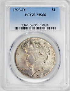 Click now to see the BUY IT NOW Price! 1923 D PEACE $1 PCGS MS 66